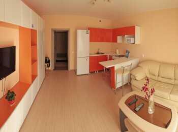 Пример отделки и меблировки квартиры-студии